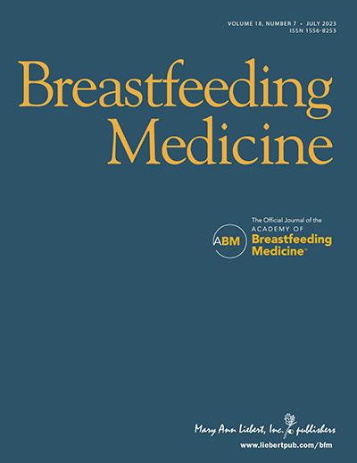 Breastfeeding Medicine Journal Cover
