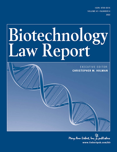 Biotechnology Law Report
