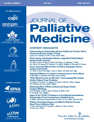 Journal of Palliative Medicine | Mary Ann Liebert, Inc