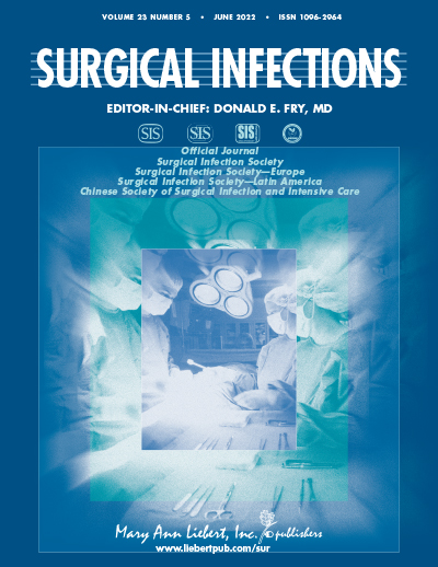 Surgical Infections Journal Cover