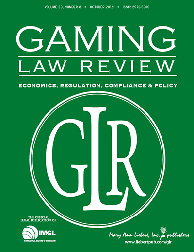 Gaming Law Review Cover