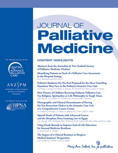 View details for Journal of Palliative Medicine cover image